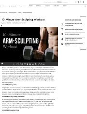 10-Minute Arm-Sculpting Workout _ LIVESTRONG