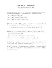 3T03 Assignment 2 Solutions