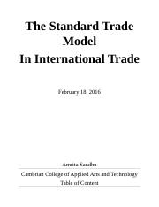 Report-The Standard Trade Model
