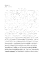 Lesson Before Dying Essay