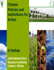 Climate Policy and Institutions H Pathak.ppt