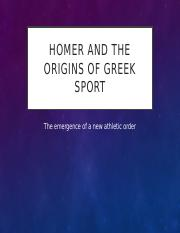 lecture 12- Homer and the development of Greek Sport (October 22).pptx
