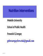 Nutrition Intervention 4.ppt