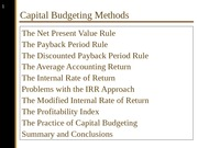Capital Budgeting Methods - PowerPoint Slides.ppt