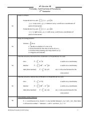 Reference Material 2- FORMULAS