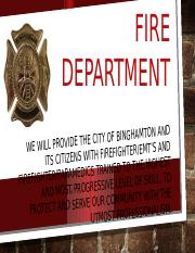 Binghamton Fire Department presentation