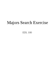 Majors Search Exercise