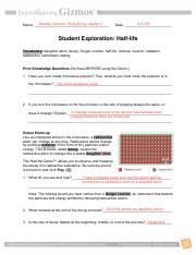 How does your data demonstrate the definition of a half ...