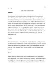 Week 13 Jacob and Esau allusion card