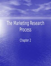 Chapter 2 The Marketing Research Process