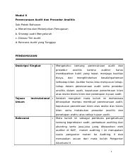 Modul 9 Perencanaan audit (Revised).doc