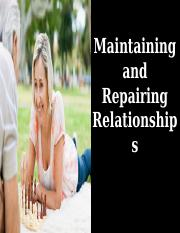Chapter 14 - Maintaining and Repairing Relationships Student.ppt