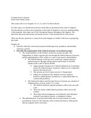 Final Exam Study Guide Criminal Justice