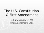 US Constitution & First Amendment (2)
