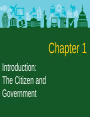 CH 1 INTRODUCTION THE CITIZEN AND THE GOVERNMENT(1)