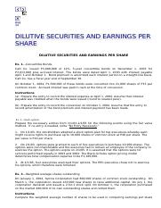 DILUTIVE SECURITIES AND EARNINGS PER SHARE _ ACCTG @ UDM.html
