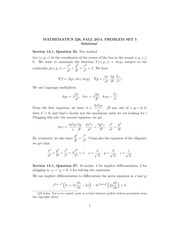 MATH 226 Fall 2014 Problem Set 5 Solutions