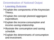 Topic 2 - Determination of National Output  1