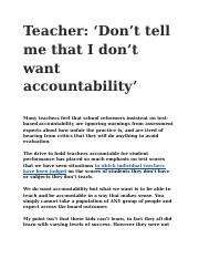 Teacher- 'Don't tell me that I don't want accountability'.docx
