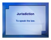 jurisdiction ppt