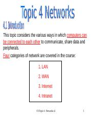 COMP 3191 : Principles of Networking - University of the West