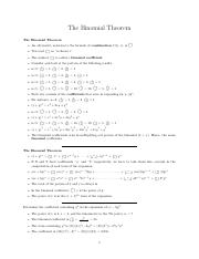 Lect_9-The Binomial Theorem