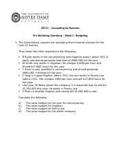 Week 2 Pre Workshop Questions Budget.docx