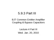 5.9.3 Part III Low Frequency Response - BJT Calculations L4_3