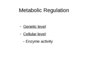 lecture notes-molecular biology-cell regulation