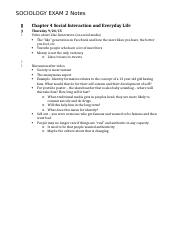 SOCL 2001 Exam 2 Notes ALL.docx