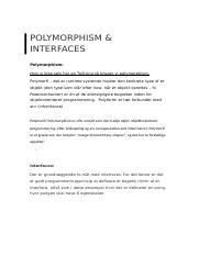 Polymorphism and interfaces