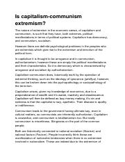 The nature of extremism in the economic sense