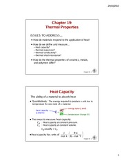9 Thermal properties Notes
