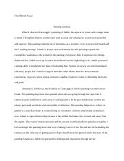 One-minute essay. Painting Analysis.docx