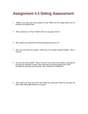 Assignment 4.5 Dating