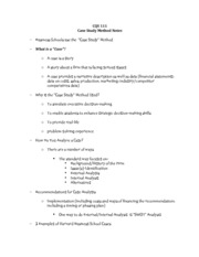 CQS 111 Case Study notes