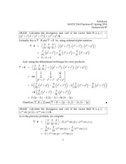 divergence and curl- Homework 7