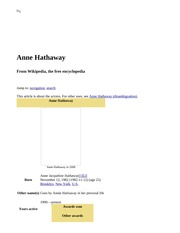 Anne Hathaway - Wikipedia, the free encyclopedia