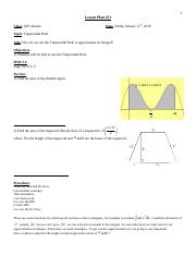 Calculus Fall 2011 Lesson 51 _Using the Trapezoidal Rule_