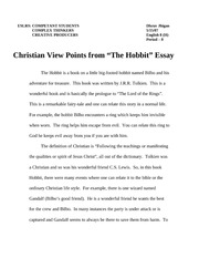 faith essay  3 pages hobbit essay