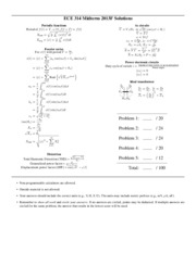 ECE314 Midterm - 2013F - solutions