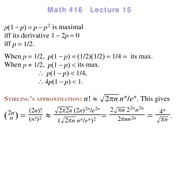 Lecture 15 on Probability and Statistics
