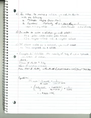 CHM 142 Make A Solution Notes