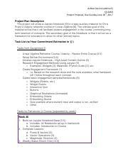 CS6460 - Project Proposal- HISTABOT pdf - BRIAN WELLS OMSCS