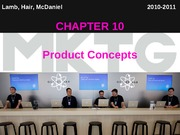 Chapter 10_Product Concepts