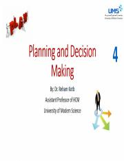 4-Planning and decision making