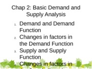 Chap 2 Basic Demand and Supply student