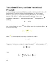 Variational Theory notes
