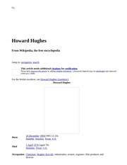 Howard Hughes - Wikipedia, the free encyclopedia