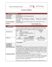 COURSE OUTLINE TEMPLATE - JANUARY 2014